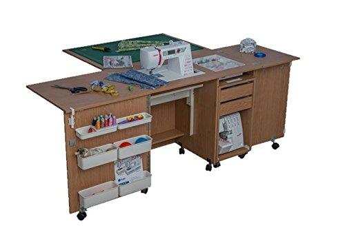 Comfort 4 | Muebles para máquinas de coser y overlock | (Lakeland Acaia Light, XL (Air-Lifter to 20kg)): Amazon.es: Hogar