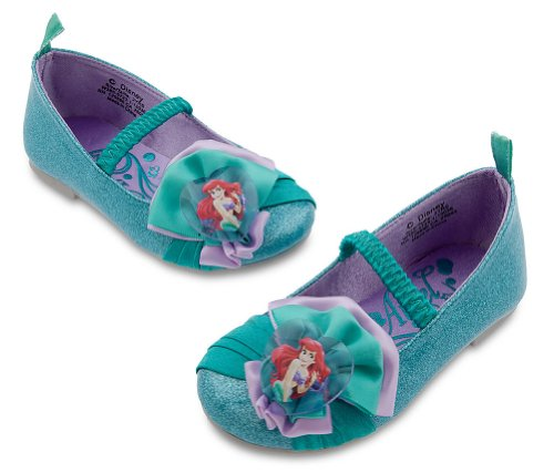 [Disney Store Princess Ariel The Little Mermaid Costume Shoes/Flats Size 7 (2 Yr)] (Ariel Blue Dress Costumes)