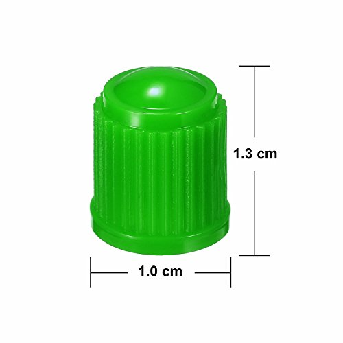 Outus 20 Pack Tyre Valve Dust Caps for Car, Motorbike, Trucks, Bike, Bicycle (Green) by Outus (Image #3)
