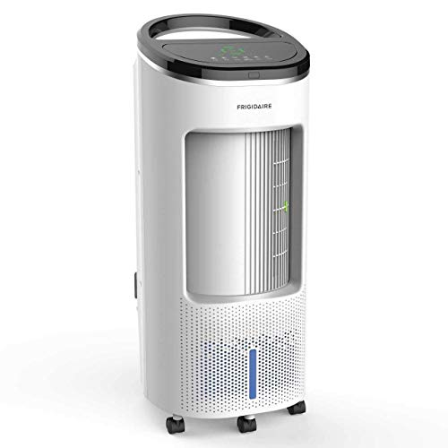 Frigidaire EC200WF Portable Evaporative Air Fan and Humidifier, Personal Indoor Outdoor Swamp Cooler, 600 CFM, White (Renewed)