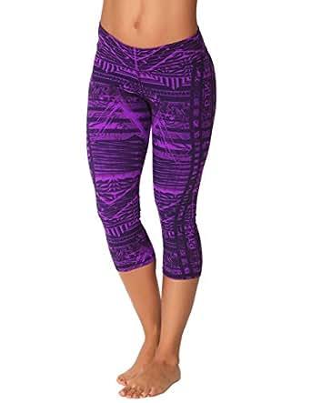 Protokolo Women's Sports Yoga Capri Pants 2758-1 M printed