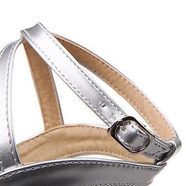 Oro Autunno Argento Stiletto 9 Nero Donna Us6 Lvyuan Da Cm 5 5 ggx Uk4 Eu36 Cn36 7 Finta Rosa A Tacchi Pelle Estate Black 70zvqpwx