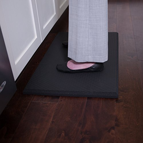 Extra Soft One Inch Standing Desk Anti Fatigue Mat and Kitchen Floor Mat - Our Softest Thickest Fatigue Mat that Uses Air Soft Foam. Stable Soft Comfort Mat, Black 30'' x 18'' by iPrimio (Image #8)