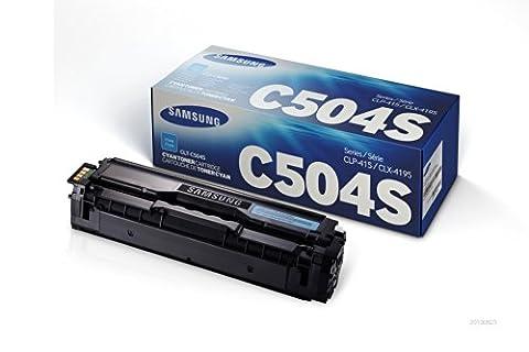 Samsung Electronics CLT-C504S Toner for CLP-415NW, CLX-4195FW, SL-C1810W, SL-C1860FW, Cyan (Samsung Laser Printer C1810w)