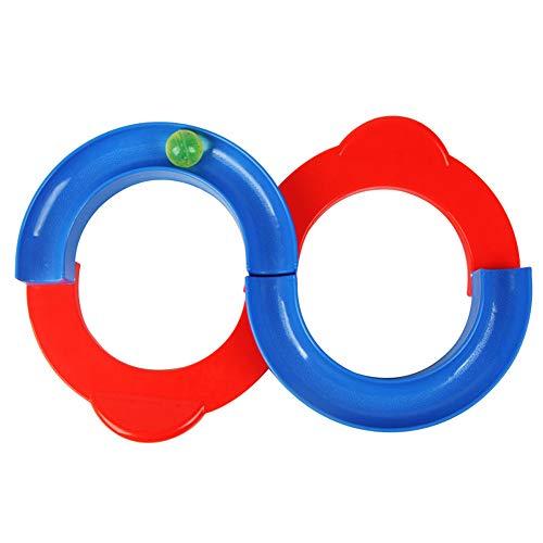 Matoen Plastic Kids Hand Eye Coordination Balance Training Bead Maze Track Run Game Sensory Training Equipment 88 Track Toys (A, ()