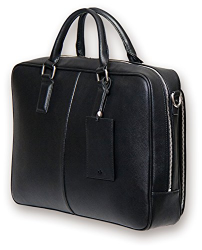 BfB Laptop Messenger Bag - Designer Business Computer Bag or Briefcase - Ideal for Work and Travel - Black by My Best Friend is a Bag