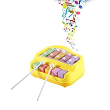 TOWERPRO Baby Kids Musical Toy Educational Play Piano Music Toy with Two Piano Sticks For Developing a Sense of Rhythm and Timing, Yellow