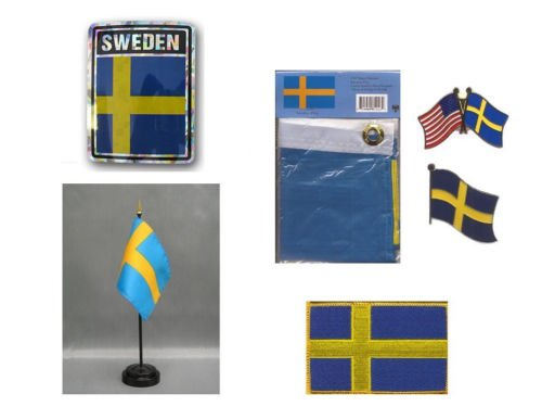 sweden heritage flag set