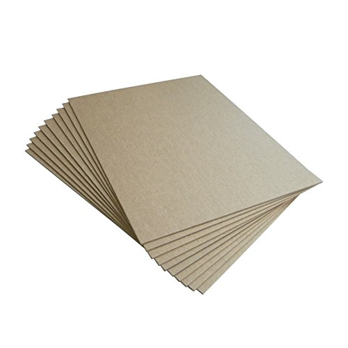 Chipboard Sheets 8.5 x 11 inch | Heavy Weight 50 Point | Pack of 10 Chipboards with Other Quantities Available – Made in USA – Brown Kraft Chip Board Pads by Things Improved (Chips Chipboard)
