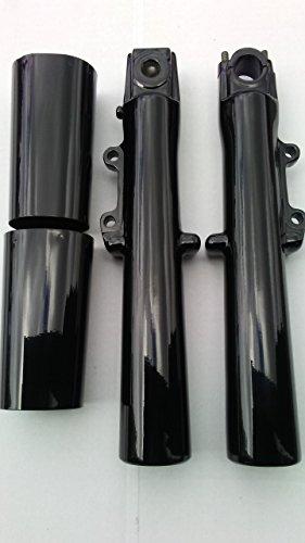 Harley Touring 2000-2013 Gloss Black OEM Lower Fork Legs Sliders Cans ()