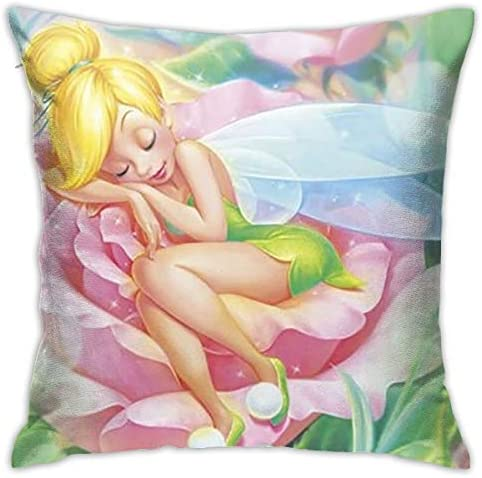 BRAND NEW LUXURY PERSONALISED SOFA CUSHION COVER GIFT TEXT KIDS TINKERBELL