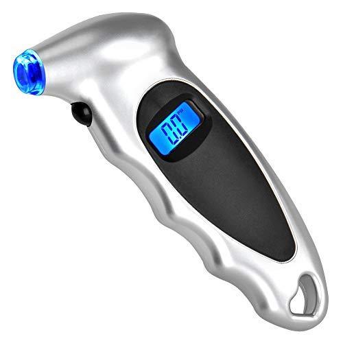 Trunck and Bike PULNDA Digital Tire Pressure Gauge 150 PSI 4 Settings with Backlit LCD Display and Non-Slip Grip for Car