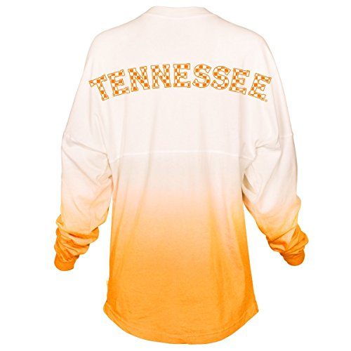 University Tennessee Jersey (Official NCAA University of Tennessee Volunteers, Knoxville Vols UT UTK Women's Long Sleeve Tie Dye Spirit Wear Jersey T-Shirt)