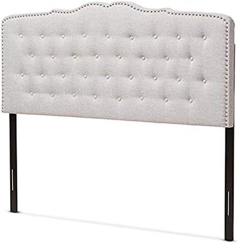 Best modern headboard: Baxton Studio Lucy Modern and Contemporary Greyish Beige Fabric King Size Headboard