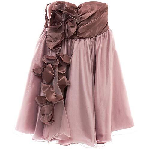Vestido Tafeta Flores