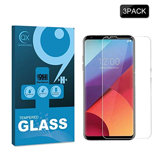[3-Pack] Compatible LG V30/V30 Plus Screen Protector,nilogo 9H Hardness HD Tempered Glass Screen Protector for LG V30/V30 Plus [Anti-Scratch] [No-Bubble] [Quickly Responsive] …