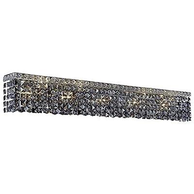 "Elegant Lighting Maxime 44"" 10 Light Elements Crystal Vanity Lighting"