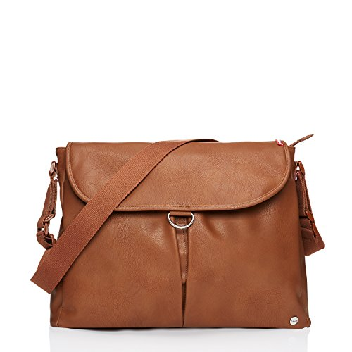Babymel Ally Vegan Leather Tote Diaper Bag, Tan