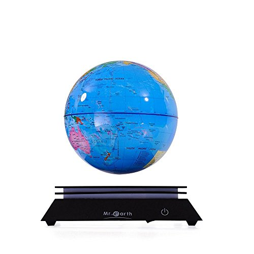 Solar Power Magnetic Rotating Floating Globe Ornament Aromatherapy Office