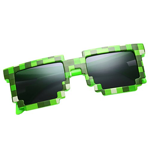 kilofly 10pc 8-Bit Pixel UV Protect Gamer Sunglasses Adult Kids Party Favors by kilofly (Image #3)