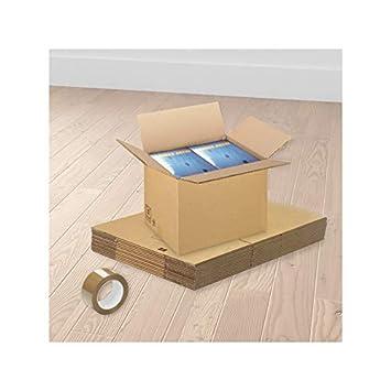 Cajas estándares para mudanzas - 20 Unidades: Amazon.es: Oficina y papelería