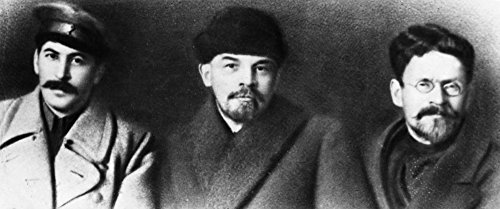 Vladimir Lenin (1870-1924) Nvladimir Ilich Ulyanov Known As Lenin Russian Communist Leader From Left Joseph Stalin Vladimir Lenin And Mikhail Ivanovich Kalinin Photographed During The Eighth Congress