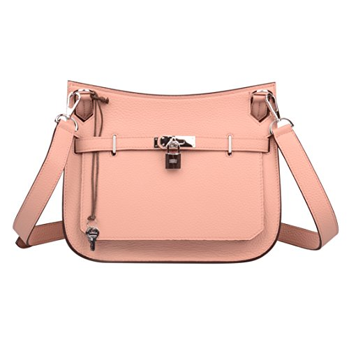 ainifeel-womens-padlock-genuine-leather-messenger-bag-cross-body-bag-satchel-purse-pink