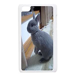 Custom iPod Touch 4 Case, Zyoux DIY iPod Touch 4 Case Cover - Rabbit