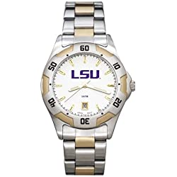 NCAA LSU Tigers Men's All-Pro Two-Tone Watch