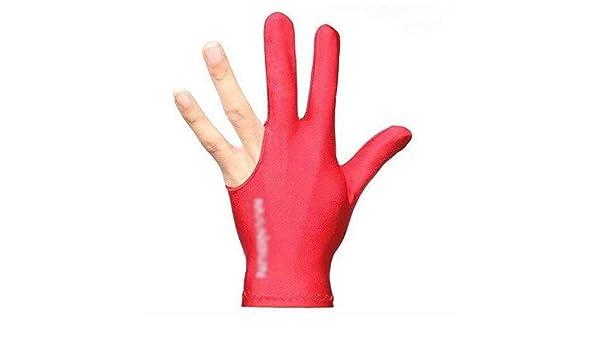 tama?o Tama?o Libre Waymeduo Guante de Billar para Piscina de Mano Izquierda Abierta Tres Dedos Guantes de Fitness Accesorios Color Rojo Guantes de Billar