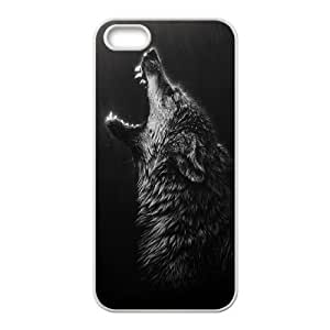Attractive and Unique Black Wolves Unique Design Case for Iphone 5,5S, New Fashion Black Wolves Case At HY_in Case