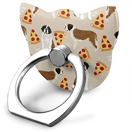 (ZYYSLHH Saint Bernard Dog Breed Mobile Phone Holder Shape Metal Finger Ring Stand Holder Phone Bracket)