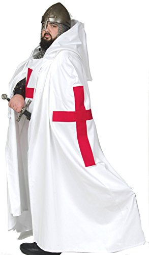 Tunic & Cape Templar Crusader Warrior Medieval Latin Cross (Xxlarge) Handmade (Mens Templar Knight Costume)