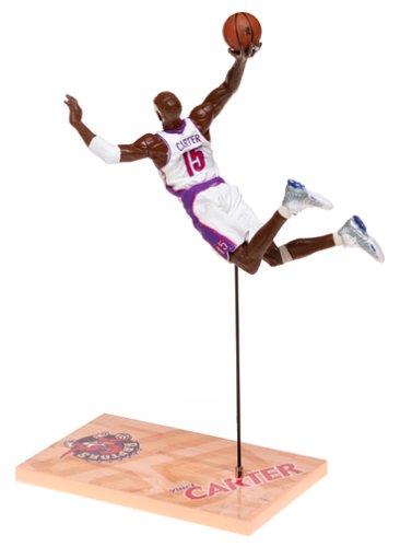 McFarlane Toys NBA Sports Picks Series 1 Action Figure Vince Carter (Toronto Raptors) White (1 Mcfarlane Sports Picks Toys)