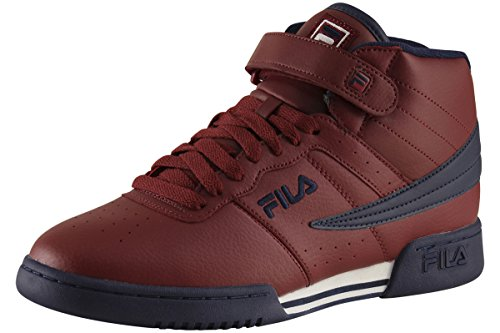 Fila Men's F-13V Leather/Synthetic Shoes Biking Red / Fila Navy / White 9.5