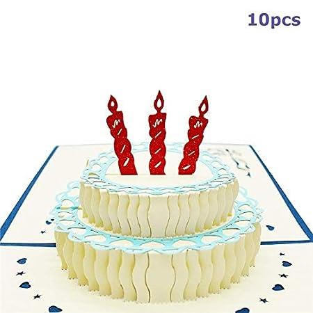 westtreg Paquete de 10 Tarjetas de Feliz cumpleaños Tarjetas ...