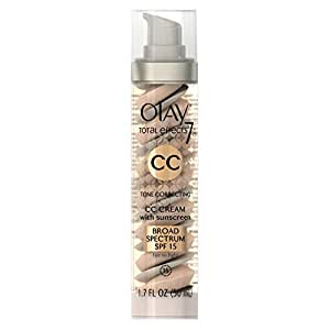 Olay CC Cream - Total Effects Tone Correcting Moisturizer with Sunscreen Broad Spectrum SPF 15 Fair To Light  1.7 Fl Oz