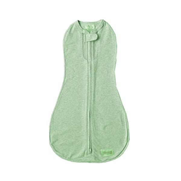 Woombie Air Nursery Swaddling Blankets, Lime Sorbet, 14-19 Pounds