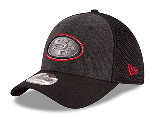 o 49ers NFL 39THIRTY Heathered Black Neo Flex Fit Hat ()