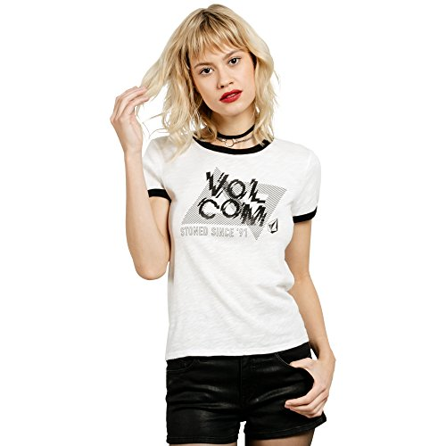 Volcom Junior's Offset Ringer Tee