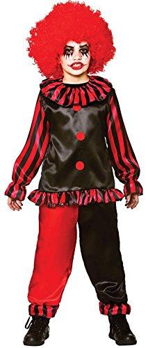 Boys Freaky Evil Clown Halloween Fancy Dress Circus Costume -