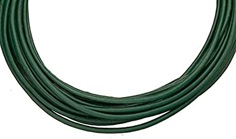 3mm round emerald green 5 yard Full-grain leather cord