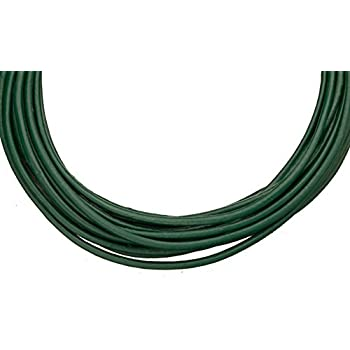 Full-grain leather cord 3mm round emerald green 5 yard