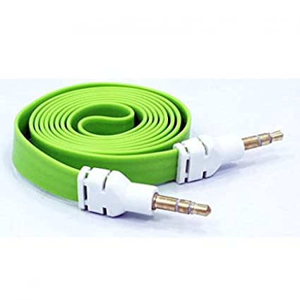84f3ed450 Green Flat Aux Cable Car Stereo Wire Audio Speaker Cord 3.5mm Jack Adapter  Auxiliary  Tangle Free  for Net10 Samsung Galaxy Note 5 (SM-N920A) - Net10  ...