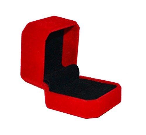 Red Velvet Ring (Geff House Classic Velvet Engagement Ring Jewelry Gift Box (Red))