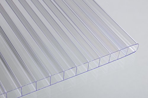 Falken Design Falkenacrylic-MW-CL-8MM/2424 Mw-CL-8mm/2424 Multiwall Polycarbonate Sheet, Greenhouse Cover, 8mm (0.314