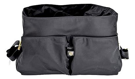 ca88839baaee Tory Burch Black Nylon Messenger Diaper Baby Bag  Amazon.co.uk  Clothing