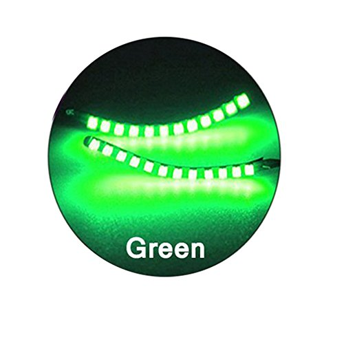 BOXMO LED Lashes Interactive Eyelashes Light,Shining Charming for Party,Bar,NightClub,Concerts,Birthday,Halloween,Christmas Ornament;Music Control Mode And Switch Mode (Green)