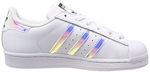 White Unisex Ftwr Silver sld Kinder Ftwr Metallic J adidas Top Weiß White Low Superstar 8UqU0Zd