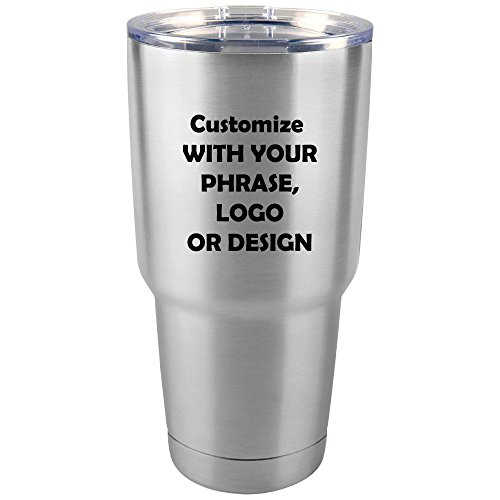 Personalized 30 oz Tumbler | Custom Monogram Insulated Travel Mug | Available In 7 Colors and Stainless Steel